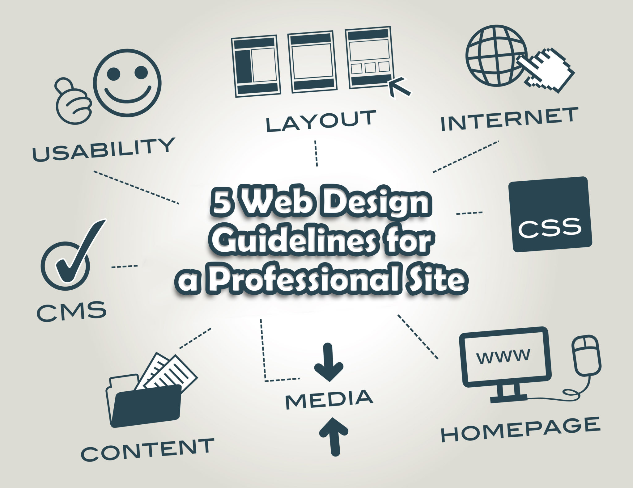 5 Web Design Guidelines for a Professional Site